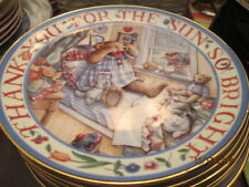 Royal Doulton Teddy plate New Rise and Shine