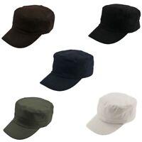 New Classic Plain Vintage Hat Adjustable Army Military Cadet Style Cotton Cap
