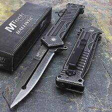 "8"" MTECH USA MILITARY SPRING ASSISTED STILETTO TACTICAL POCKET KNIFE Blade"