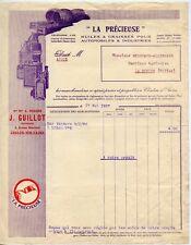 FACTURE / LA PRECIEUSE HUILES ET GRAISSES POUR AUTOMOBILES ALLIER LE DONJON 1927