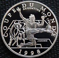 FRANCE 10 FRANCS BE ARGENT COUPE DU MONDE FRANCE 1998 ARGENTINE