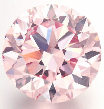 25 pieces - 1 mm LIGHT PINK Russian Sim Diamond BRILLIANT CUT 0.005 CT