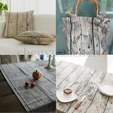 50x150cm Vintage Cotton Linen Fabric DIY Home Deco Table Cloth Cover Wood Grain
