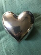Aluminum Heart Shaped Trinket Box