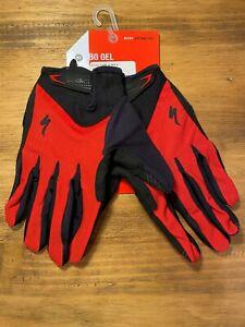 Specialized Men's Body Geometry Gel Long Finger Glove Touch ScreenRed BlackXL