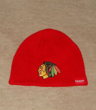 Chicago Blackhawks Hockey NHL Uncuffed Youth Winter Knit Hat New Kids Skull Cap