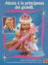 X2197 Alexia - Bacchetta magica - Gemme - Mattel - Pubblicità 1993 - Advertising