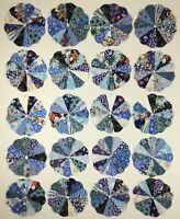 Christmas Blue Dresden Plates for appliqué, needle turn or machine Quilt Blocks.