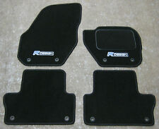 Car Mats in Black to fit Volvo V40 (2012 Onwards) + R Design Logos + Fixings