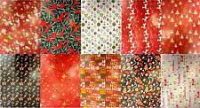 10 Assorted Sheets Thick Christmas Gift Wrapping Paper Traditional Modern Design