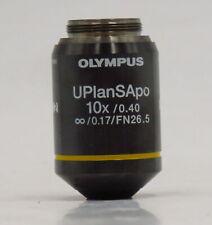 OLYMPUS UPLANSAPO 10X / 0.40  / 0.17 / FN 26.5 MICROSCOPE OBJECTIVE LENS JAPAN