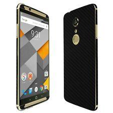 Skinomi Black Carbon Fiber Skin+Clear Screen Protector for ZTE Axon 7