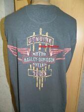 Harley-Davidson Langarm Shirt grau Herren Gr XL Schmuddel Look Vintage - SALE !