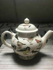 Emma Bridgewater British Birds 4 Cups Teapot, discontinued, rare.