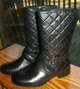 Talbots Black TIA Quilted Leather Boots (BR2216) – Size 7M – NIB