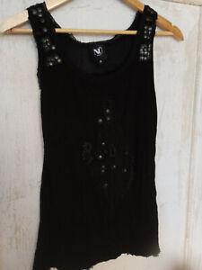 Nü by staff-Top in schwarz, mit Pailletten, neuwertig, Gr. M