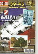 39-45 N°106 POCHE DE ROYAN  / 2e DB / POCHE DE COURLANDE / 4e PANZER DIVISIO