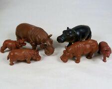 Vintage Hippopotamus Figure Lot Plastic Hong Kong Toys AAA Hippo