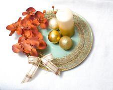 Advents/Weihnachts Tischdeko Grüne Teller mit Orchidee