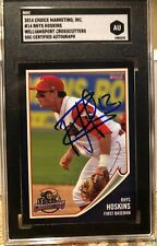 2014 Williamsport Crosscutters Rhys Hoskins Phillies Signed First Pro Card RC