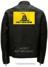 Large Gadsden Snake Flag Biker Patch embroidered Dont Tread On Me iron-on Big