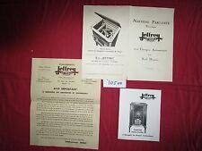 N°10500 / Ets JEFFREY : machine parlante et combiné radio-phono