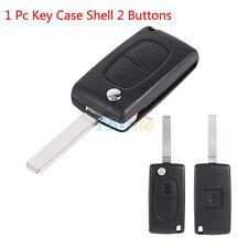 1x 2 Buttons Car Remote Fob Key Case Shell UTRD For Citroen C2 C3 C4 C5 C6 C8