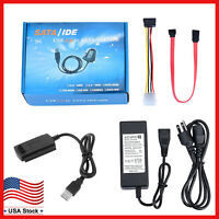 USB 2.0 to IDE SATA S-ATA 2.5 3.5'' Hard Drive HD HDD Converter Adapter Cable