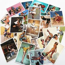 25 Pcs Classic  Pin up Girl Stickers
