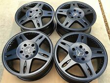 "18"" NEW MERCEDES G550 500 G-WAGON G55 OEM ORIGINAL FACTORY MERCEDES BLACK WHEELS"