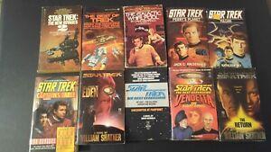 10 STAR Trek 70s Vintage Books Novels Next Generation STNG Paperback Shatner