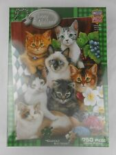 Cuddly Kittens Jenny Newland Art Masterpieces 750 Piece Cat Puzzle NEW NIP