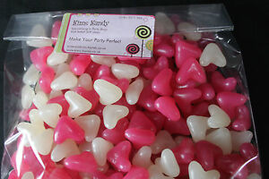 Jelly Bean Love Hearts Valentines Sweets Barratt Wedding Favours Pink White 1kg