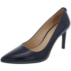 Michael Kors Womens MK Flex Navy Slip On Pumps Shoes 6 Medium (B,M) BHFO 0220