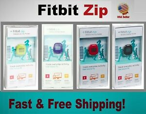 Box Fitbit Zip Wireless Activity Tracker +Extra Battery, Black Magenta Blue Lime