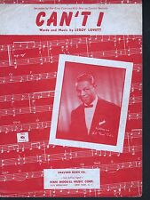 Can't I 1953 Nat King Cole Sheet Music