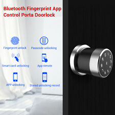 Fingerprint Biometric Doorlock Bluetooth Unlock Entry USB Charging Home Security