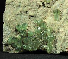 Vibrant Apple Green Demantoid Garnet Crystals in Matrix from Madagascar