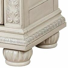 Saltoro Sherpi Wooden Nightstand With Three Spacious Drawers and Bun Feet White