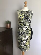 ROMAN ORIGINALS Sleeveless Green/Black Bodycon Stretch Dress - UK 12