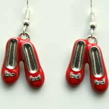 Ruby Slippers Earrings Sterling Silver Hooks Wizard Of Oz Theme New LB134