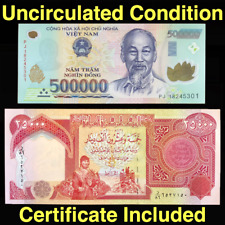 25 000 Iraqi Dinar IQD +  Vietnamese Dong 500 000 VND - Uncirculated - Set of 2