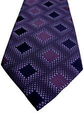 Ted BAKER Endurance Herren Krawatte lila gestreift Quadrate Shimmer NEU