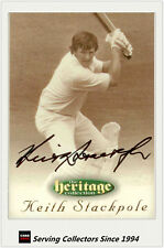 1996 Futera Cricket Heritage Signature Card Player Edition #57: K.Stackpole