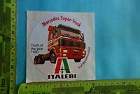 Alter Aufkleber Modellbau -Eisenbahn -Autos ITALERI Mercedes Super-Truck