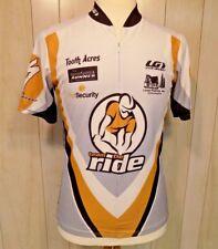 LOUIS GARNEAU Men's Cycling Biking Jersey Shirt size M Short Sleeve Zip Front