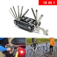 16 in 1 Bicycle Tools Sets Multi Repair Hex Spoke Wrench Mountain Bike To QN