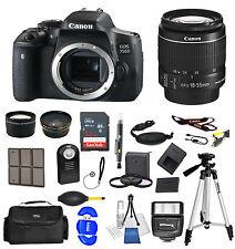 Canon EOS Rebel 750D/T6i SLR Camera + 18-55mm STM Lens + 32GB VALUE BUNDLE