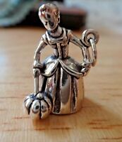 Sterling Silver 24x5mm Cute 3D Detailed Ink Pen or Pencil Charm!