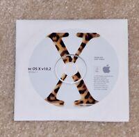 Apple OS X 10.2 Jaguar FULL INSTALL - 2 CD-ROM Set- Sealed New
